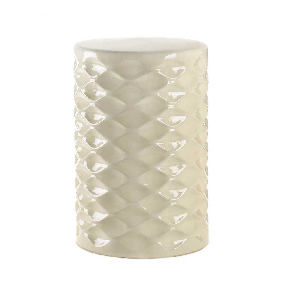 Koehler Home Decorative Ceramic Ivory Stool