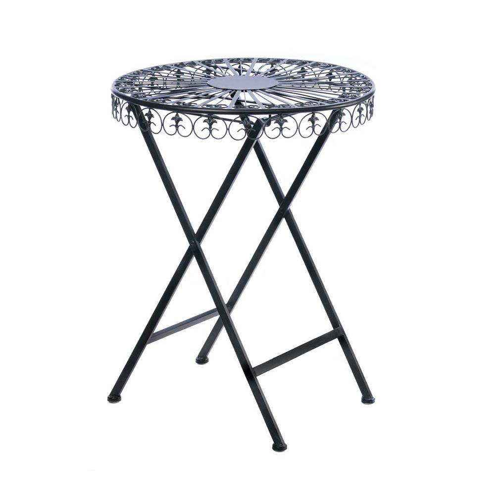 Koehler Home Decorative Fleur-de-lis Patio Table