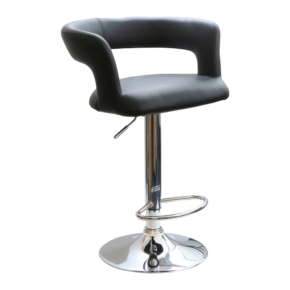 Amerihome Adjustable Height Bar Stool With Round Back