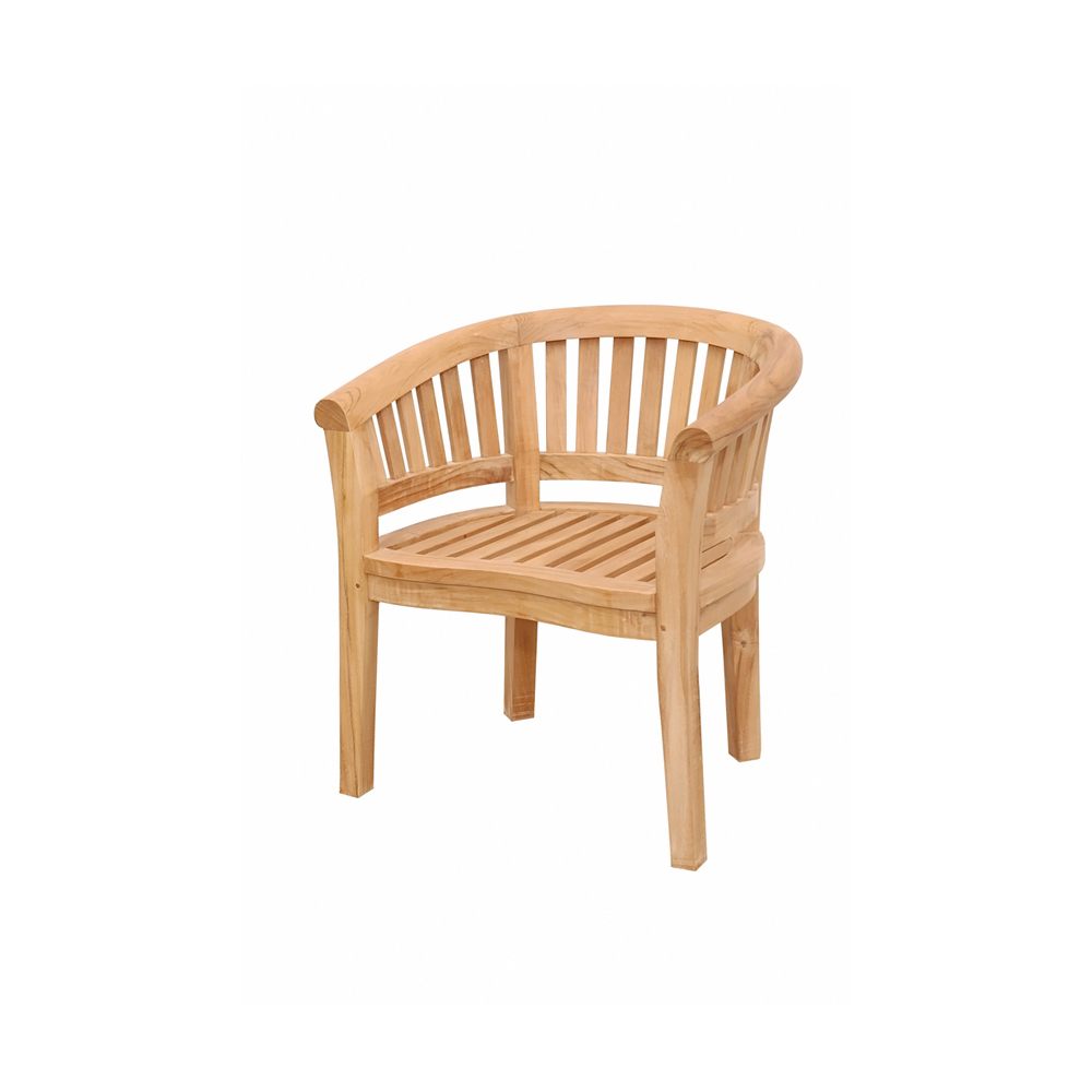 Andersonteak Outdoor Living Furniture Curve Armchair Extra Thick Wood
