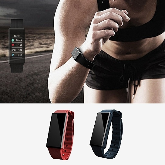 Oled Rainbow Screen Smart Fit Health Monitoring And Activity Tracker Watch - Black -  SaveOnDeals