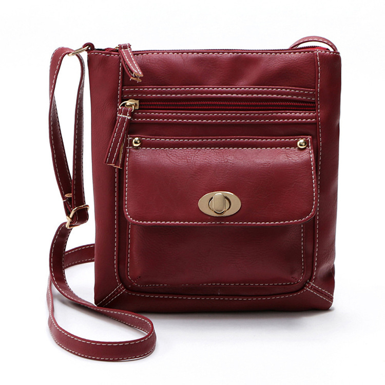 Turn Button Crossbody Purse - Red (Center Link Media) photo