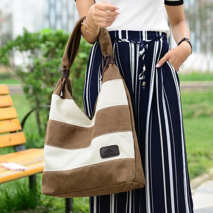 Women Fashion Stripe Handbag Shoulder Bag Large Tote Ladies Purse (BB-7635) photo