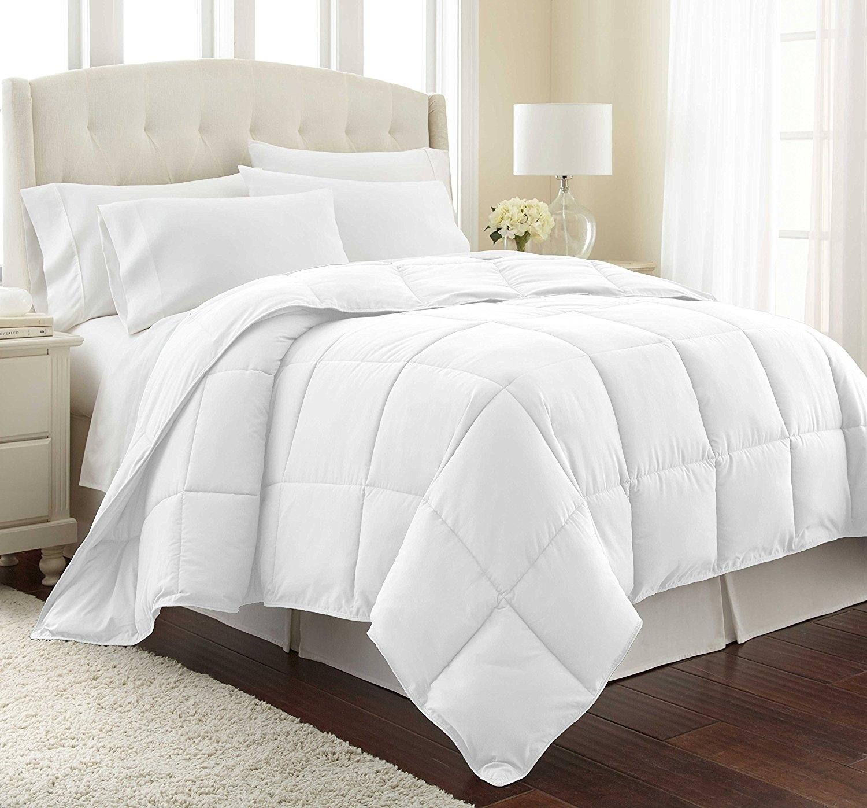 Bellerose Goose Down Alternative Comforter Duvet Insert White - Quilted Comforter - Hypoallergenic, Box Stitched, Medium Weight - Twin