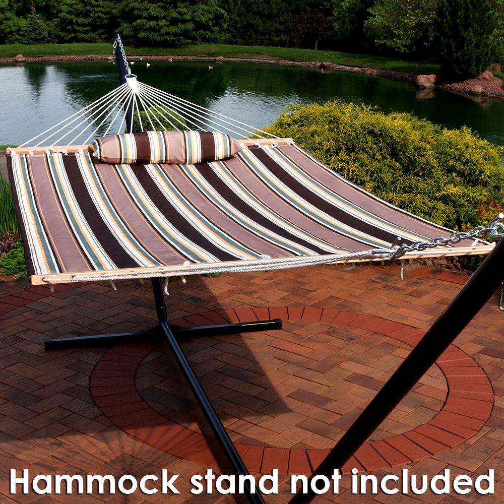 Sunnydaze Quilted Double Fabric 2-Person Hammock 58ca90f82a00e47b5c524d92