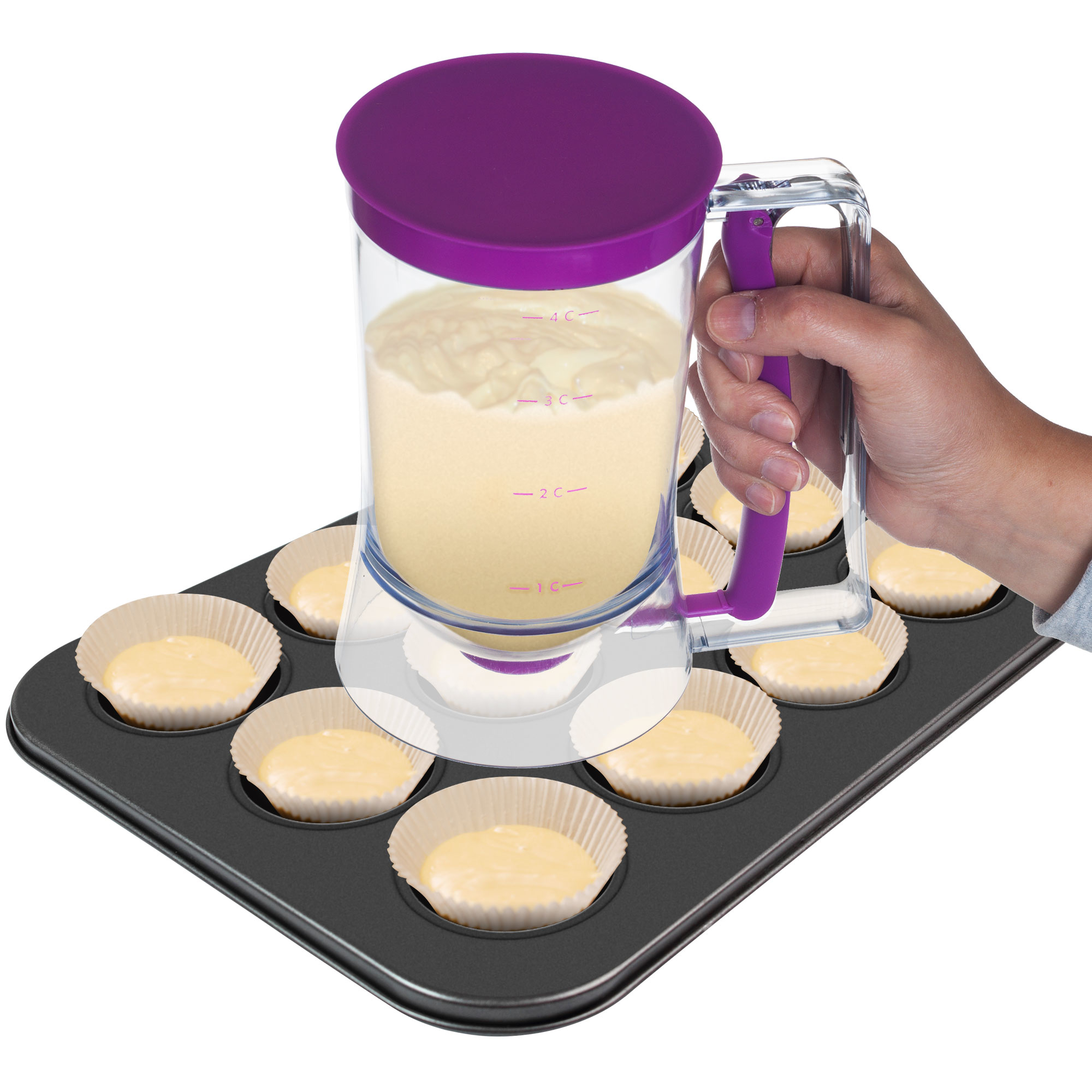Chef Buddy Pan Cup Cake Batter Dispenser - 4 Cup Capacity 588a2d1dc98fc446c744cc72