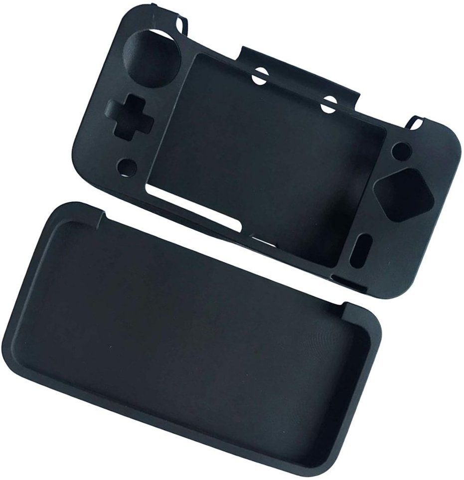 Silicone full Cover Skin Case for Nintendo 2DS XL /2Ds LL Game - Black 59dd2c165078a84dd047e235