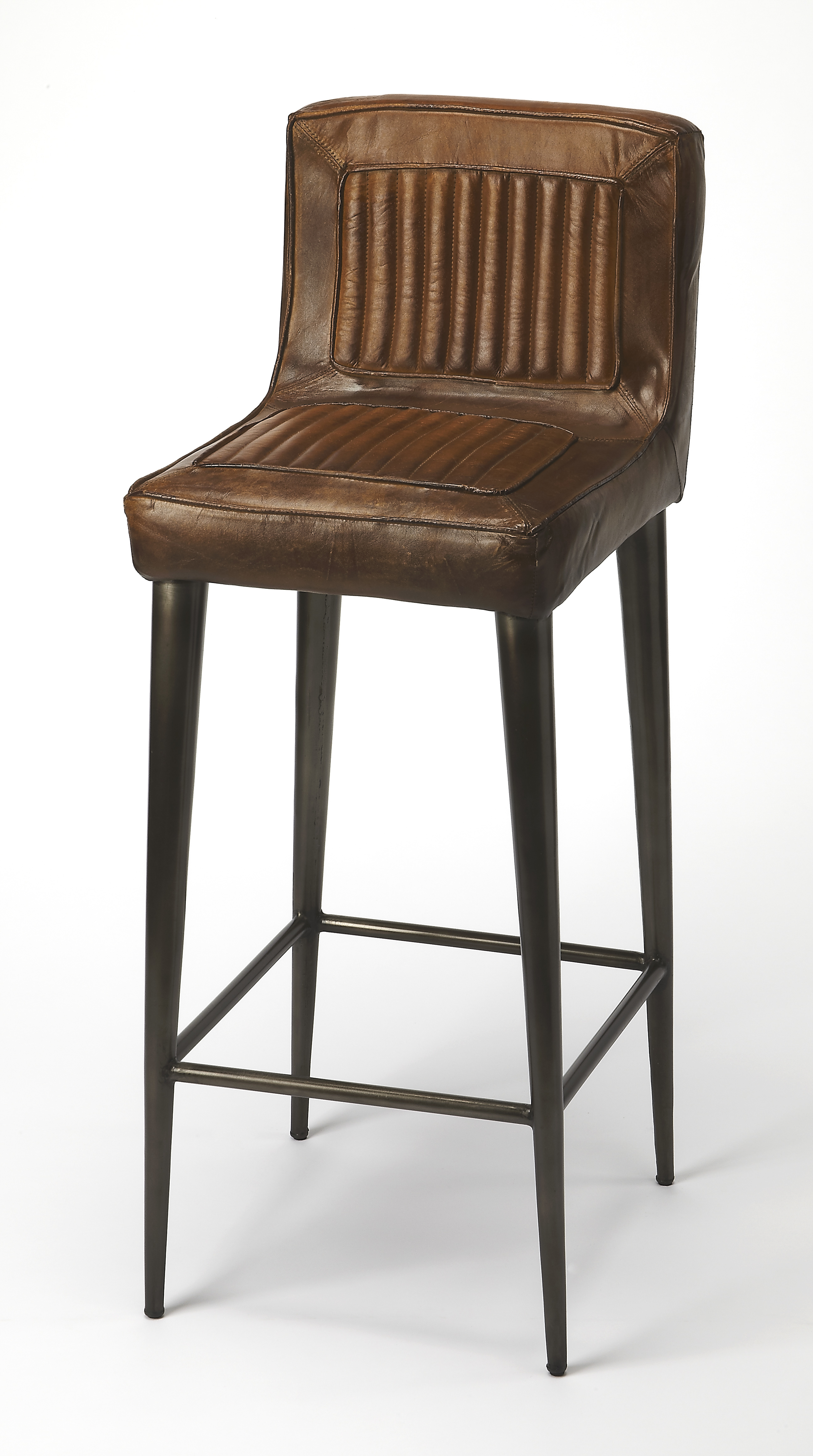 Butler Maxwell Leather Bar Stool