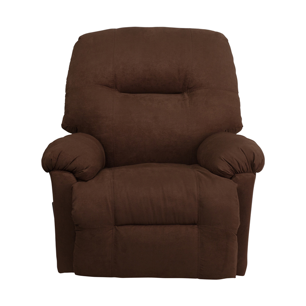Flash Furniture Contemporary Calcutta Chocolate Microfiber Chaise Rocker Recliner 59e46007e224613cbd38429e