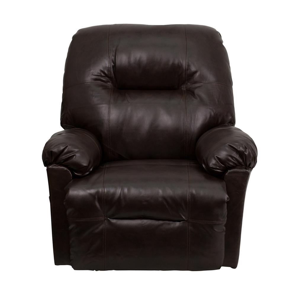 Flash Furniture Contemporary Bentley Brown Leather Chaise Rocker Recliner 59e460072a00e4389e724ce5