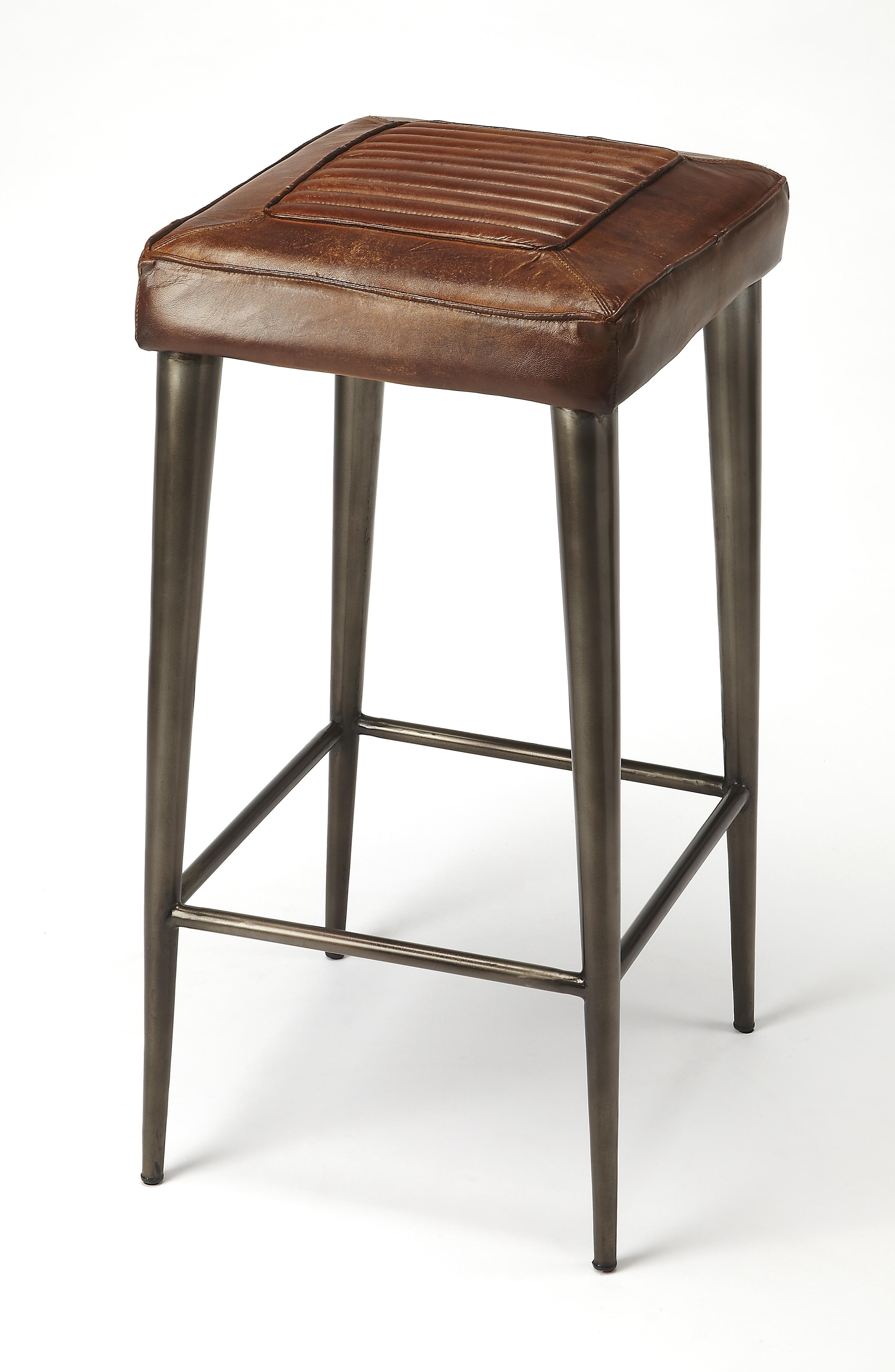 Butler Maxine Leather Bar Stool