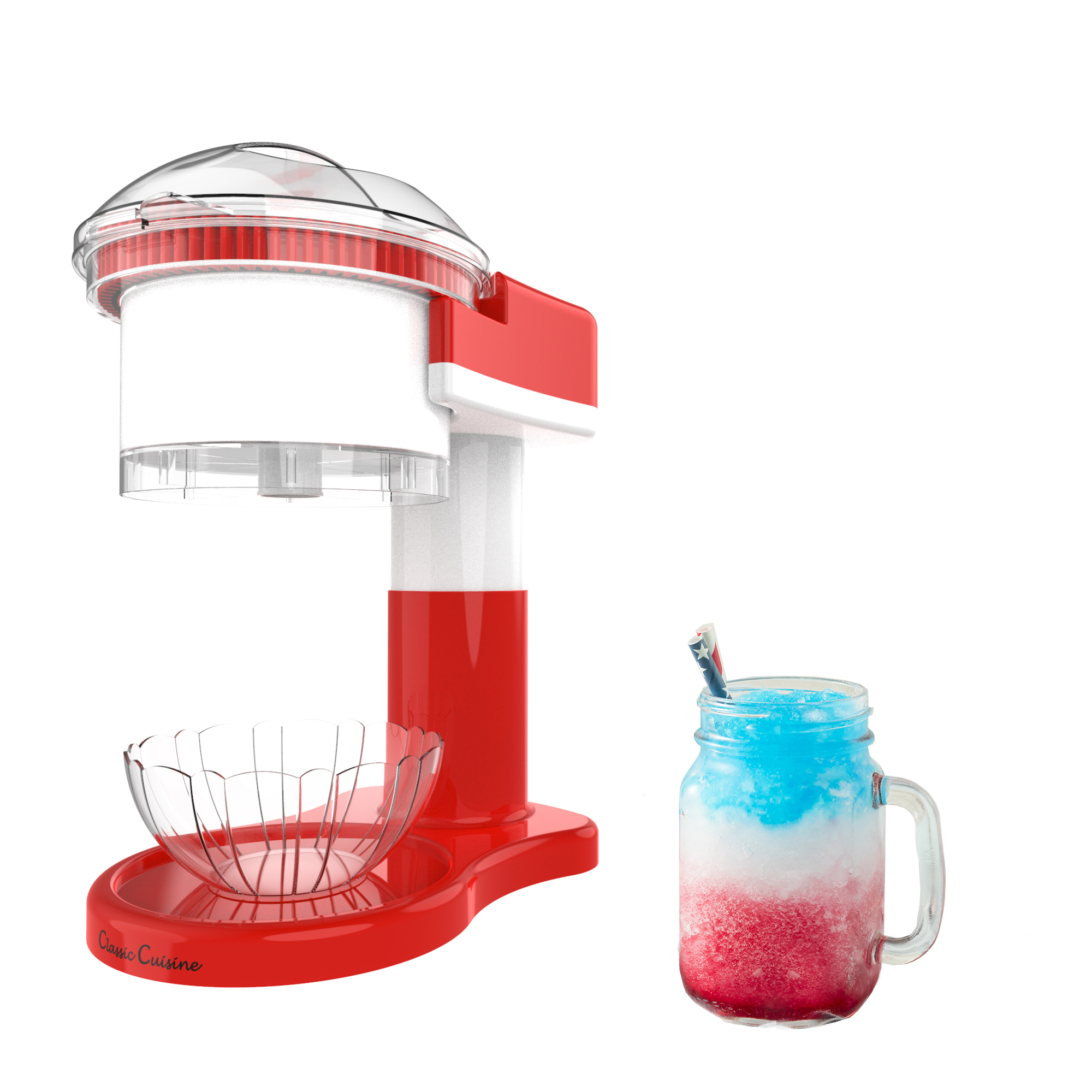 Shaved Ice Snow Cone Slushy Maker Use Ice Cubes Easy at Home Counter Top
