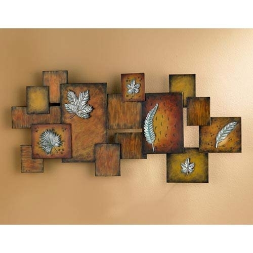 Leaves / Abstract Wall Art Panel 58995574c98fc433fa23a1d6