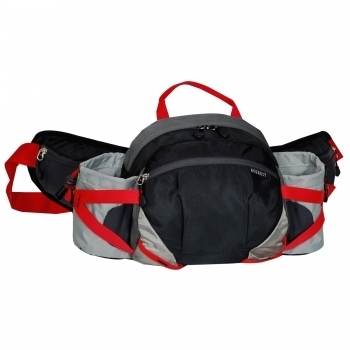 Everest Bh17-Bk-Gry Outdoor Waist Pack With Bottle Holders - Black & Gray 59f0e2c2e224616ad1650880