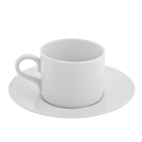 Ten Strawberry Street Royal White - Can Demi Cup And Saucer - Set Of 6 59f229632a00e408bf34b1c5
