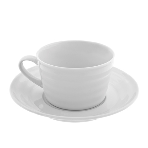 Ten Strawberry Street Swing White - 9 Oz Cup And Saucer - Set Of 6 59f22986e22461498b28deb2