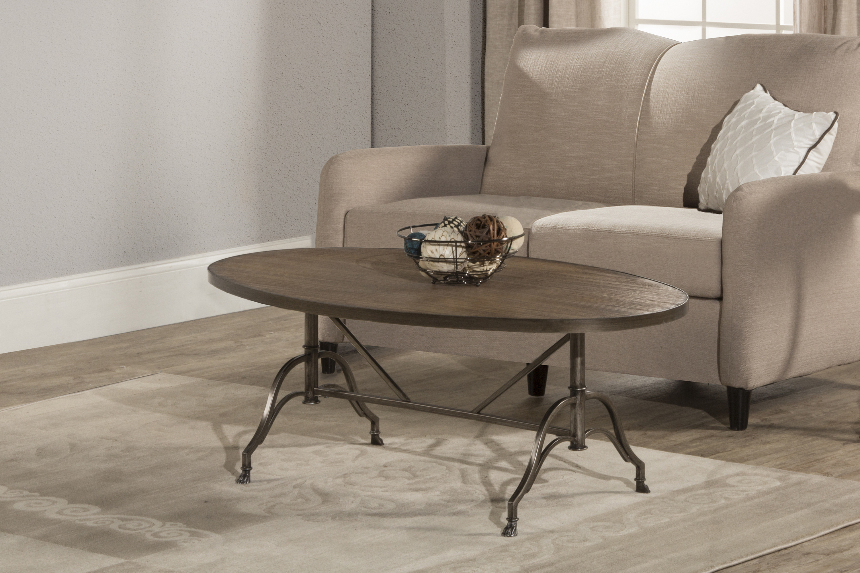 Clairview Oval Coffee Table