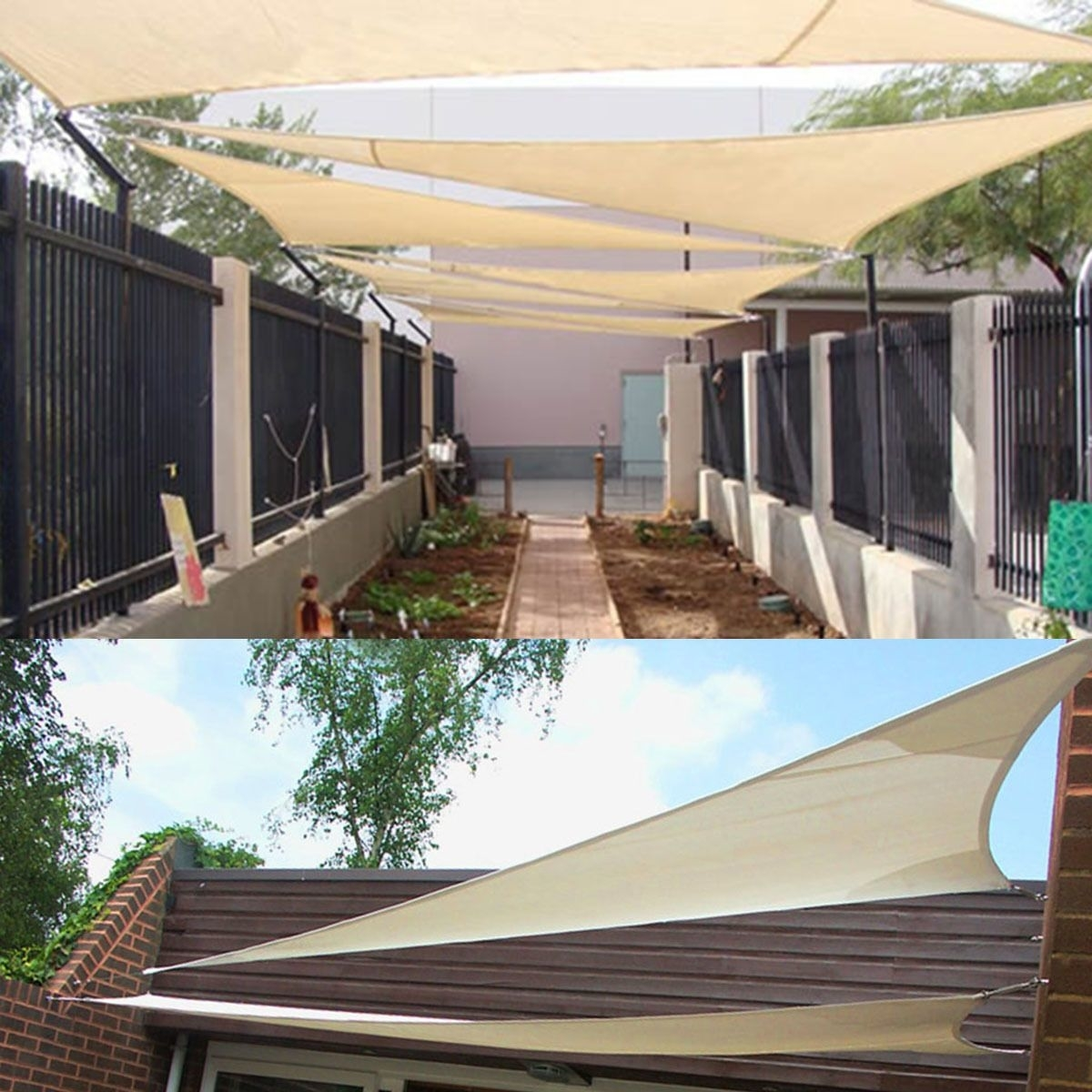 11.8' /16.4' Triangle Sun Shade Sail UV Top Outdoor Canopy Patio Lawn Cover Pool 59f3f4f5c98fc43fef609751