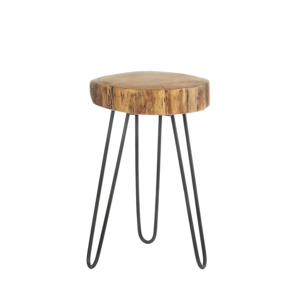 Accent Plus Home Decorative Log Top Accent Table