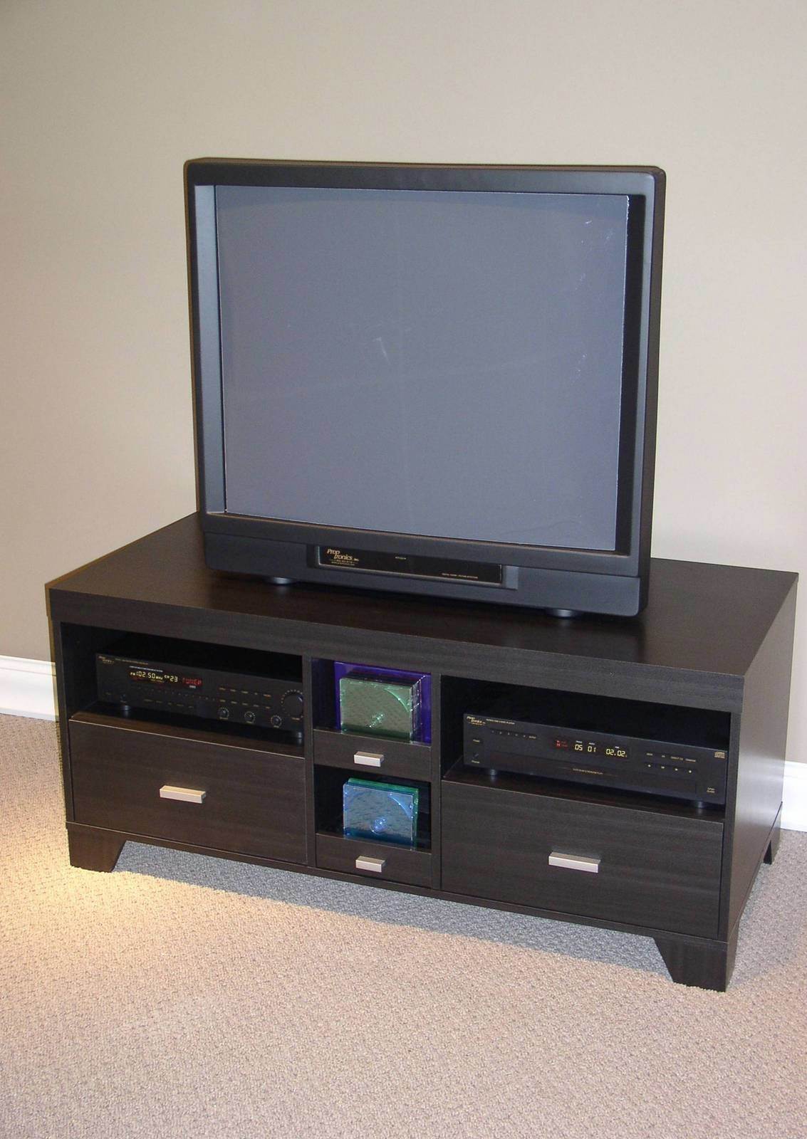 Tv Stand W/2dr And 2 Cd Drs