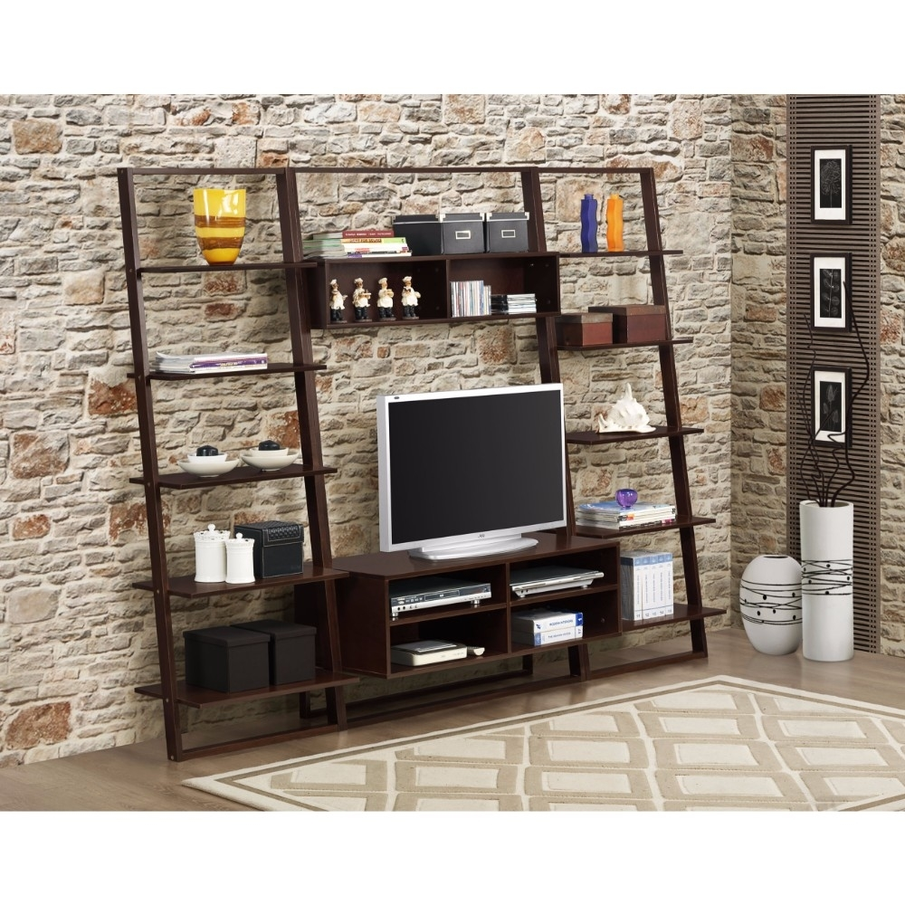 Sturdy Entertainment Center & Wall Bookcases