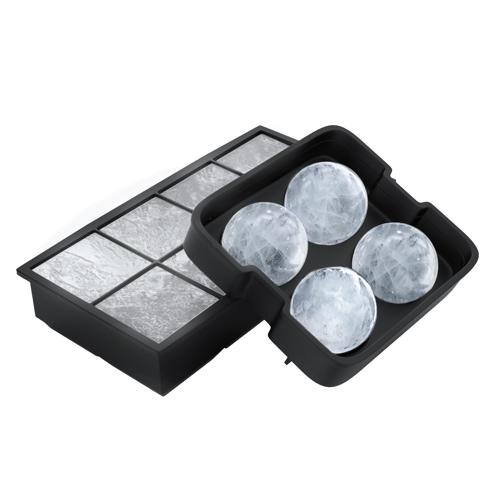 Silicone Ice Cube Trays Melting Ice Balls Frozen Deserts Square Round Molds 59f762360bda71221b165d2f