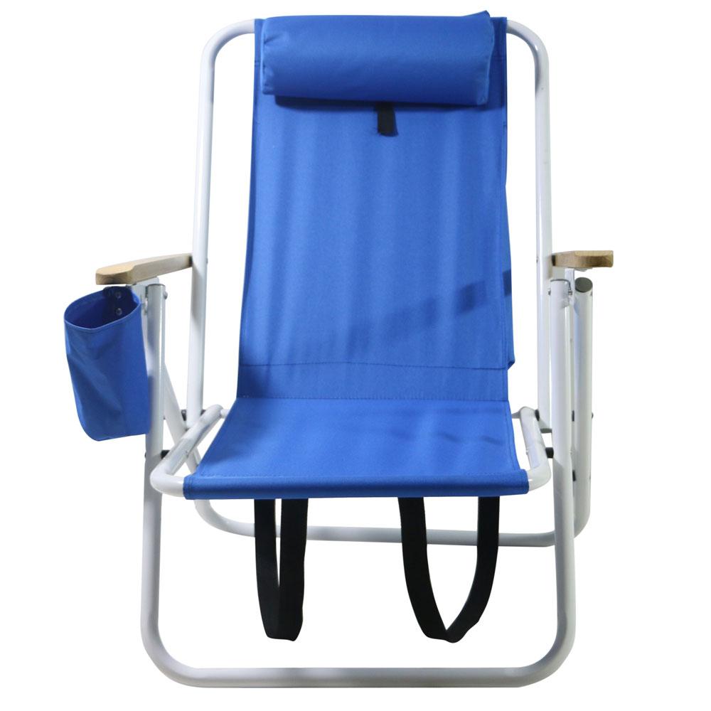 Portable High Strength Beach Chair with Adjustable Headrest Blue 5a00233f4fe4e553aa425aac