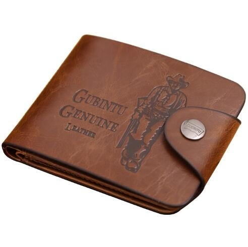 Men's Classic Leather Pockets  Cards Holder Purse Wallet photo
