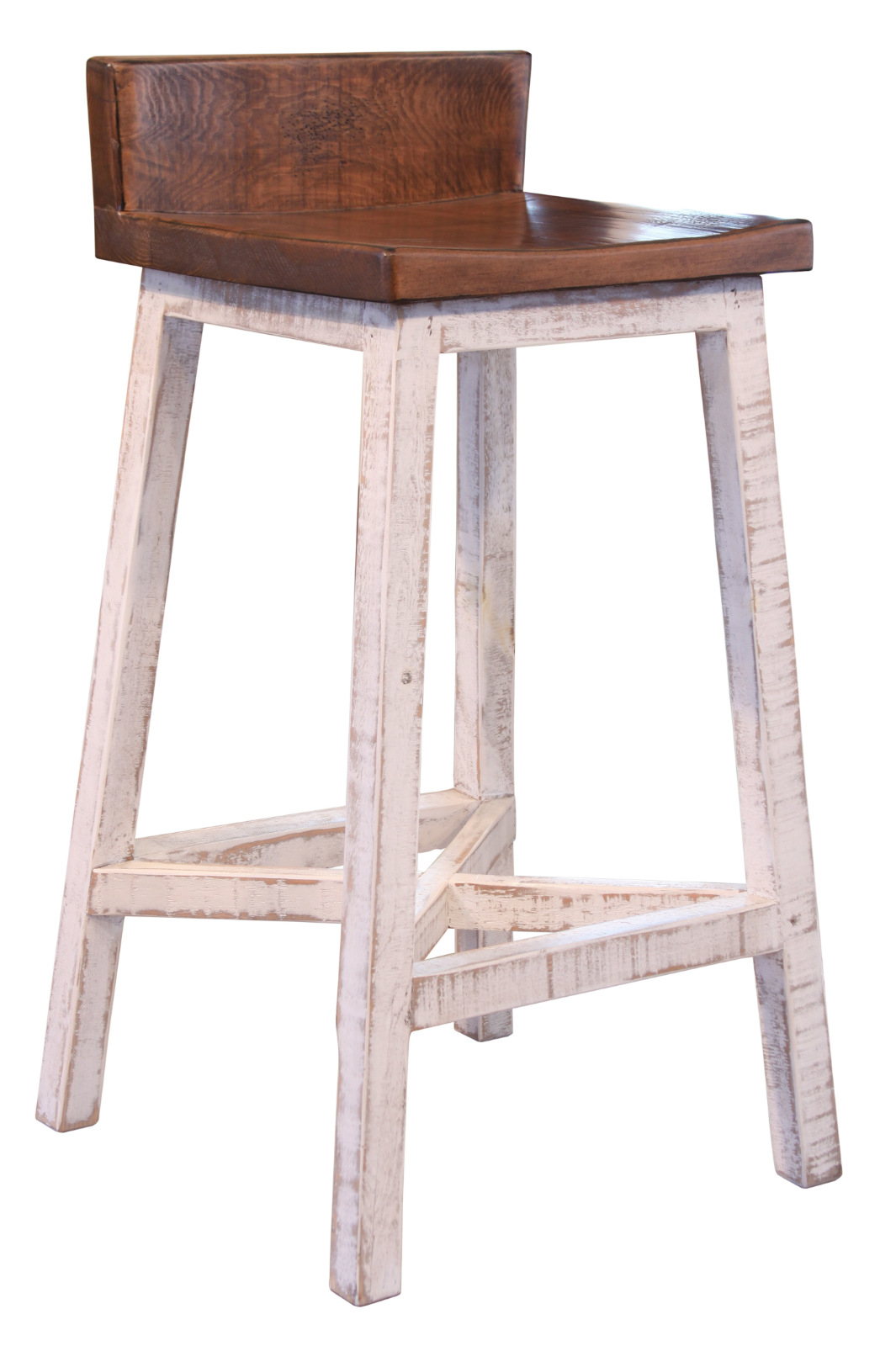 "30"" White Anton / Greenview Bar Stool"