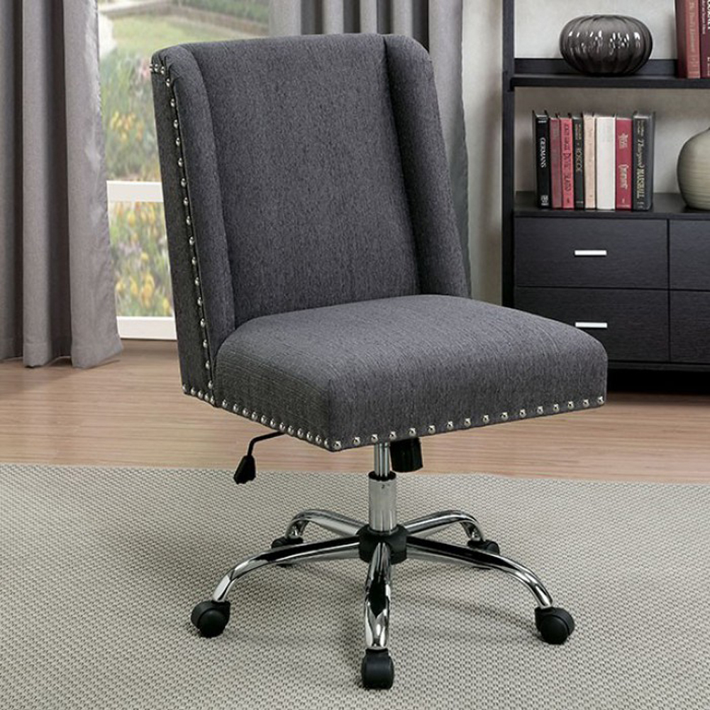 Lisette Contemporary Office Chair, Gray