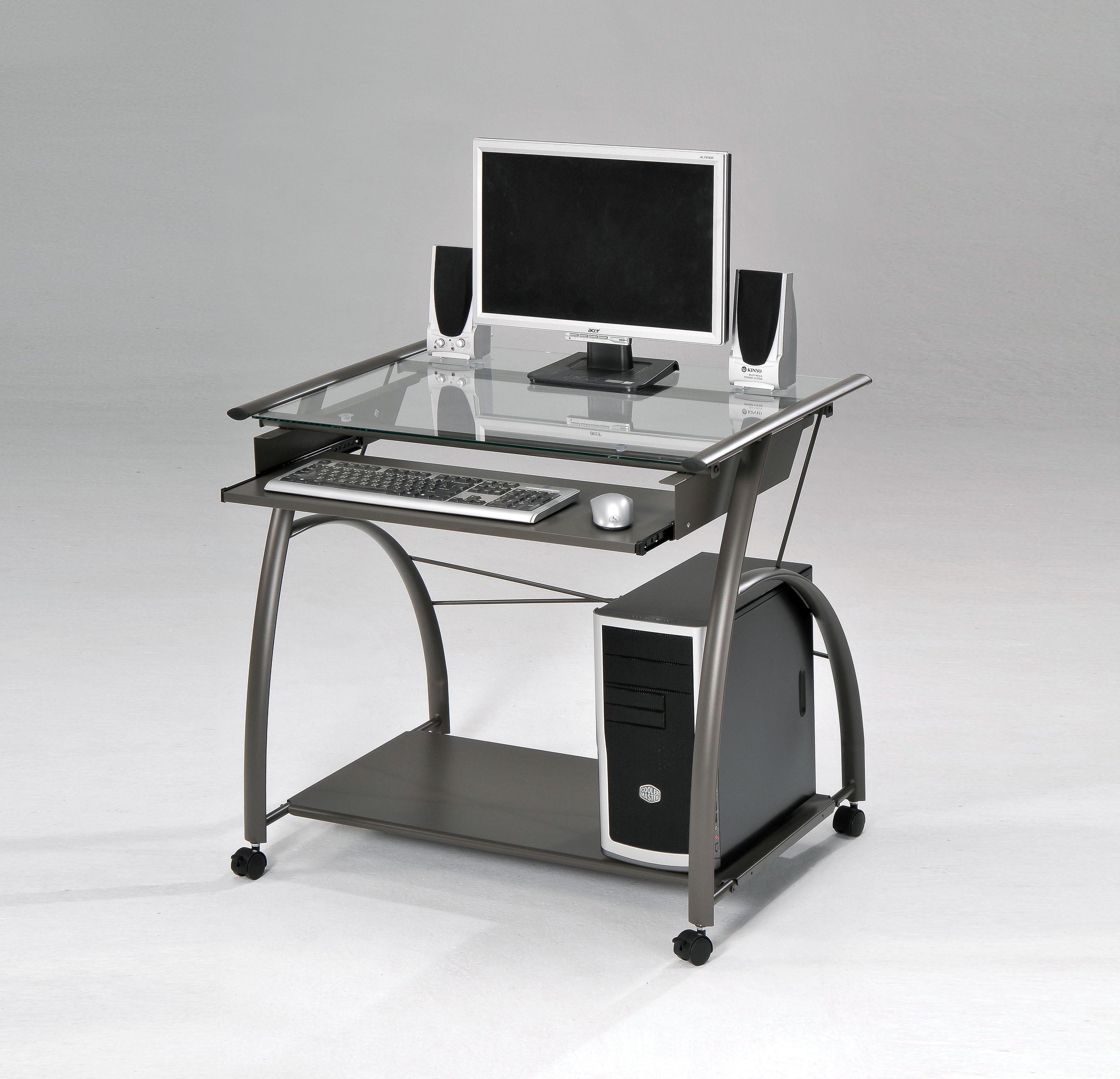 Vincent Computer Desk, Pewter