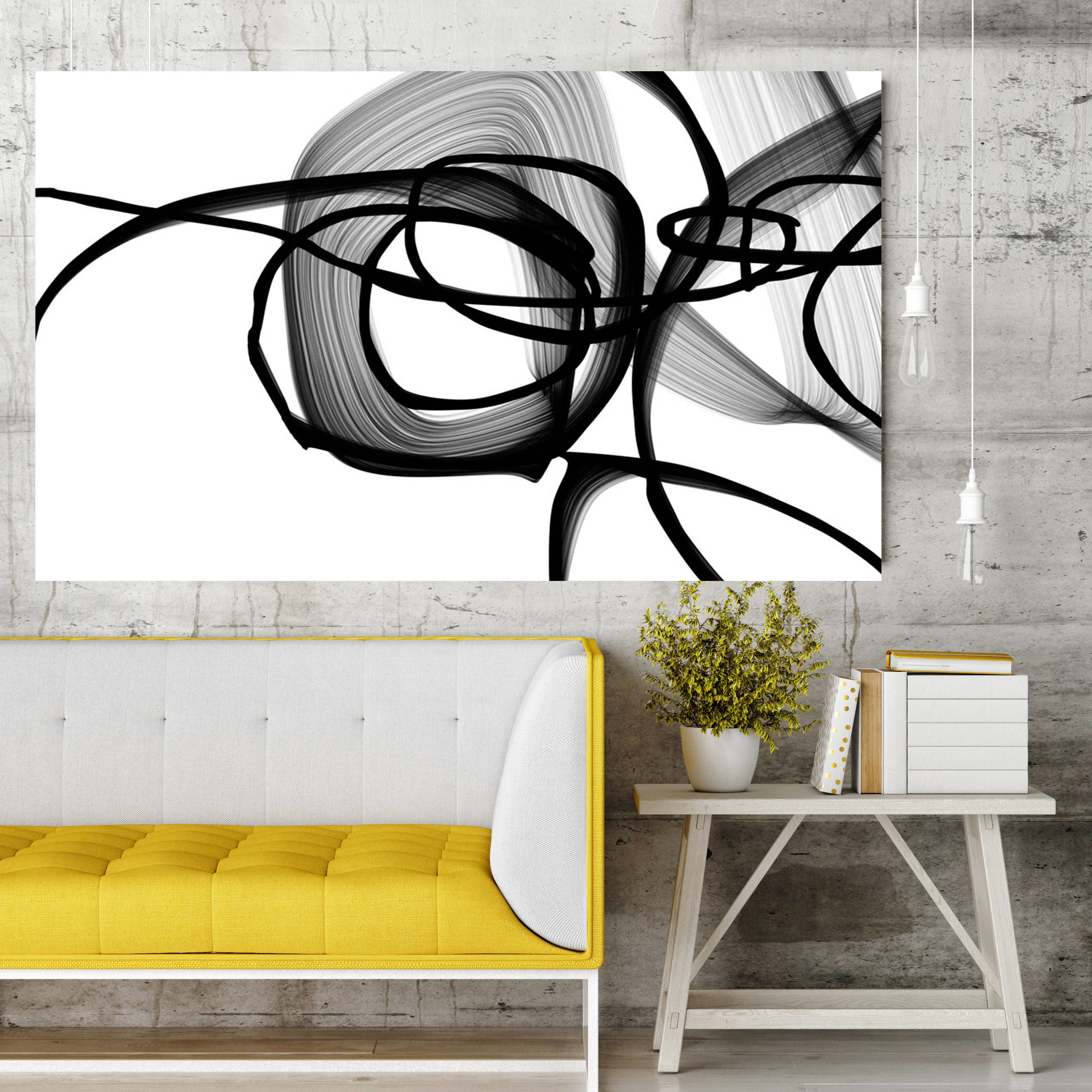 Irena Orlov Expressionismblack Painting Print Wrapped Canvas Abstract