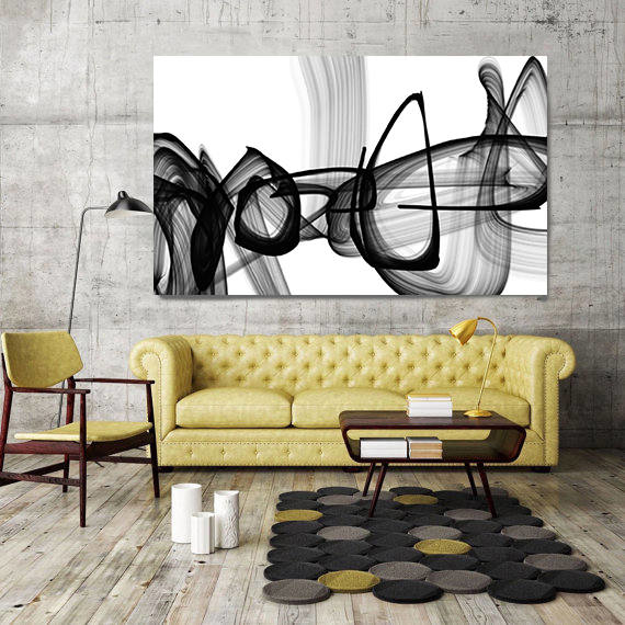Infinite Travel Abstract Painting Print Wrapped Canvas