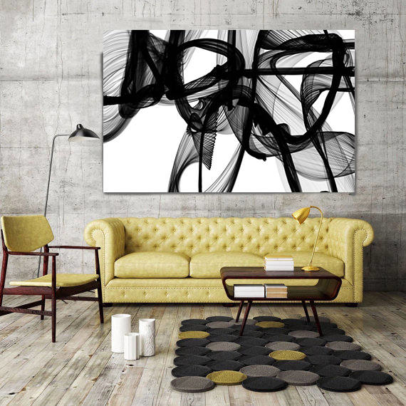 Invisible World Movement Abstract Painting Print Wrapped