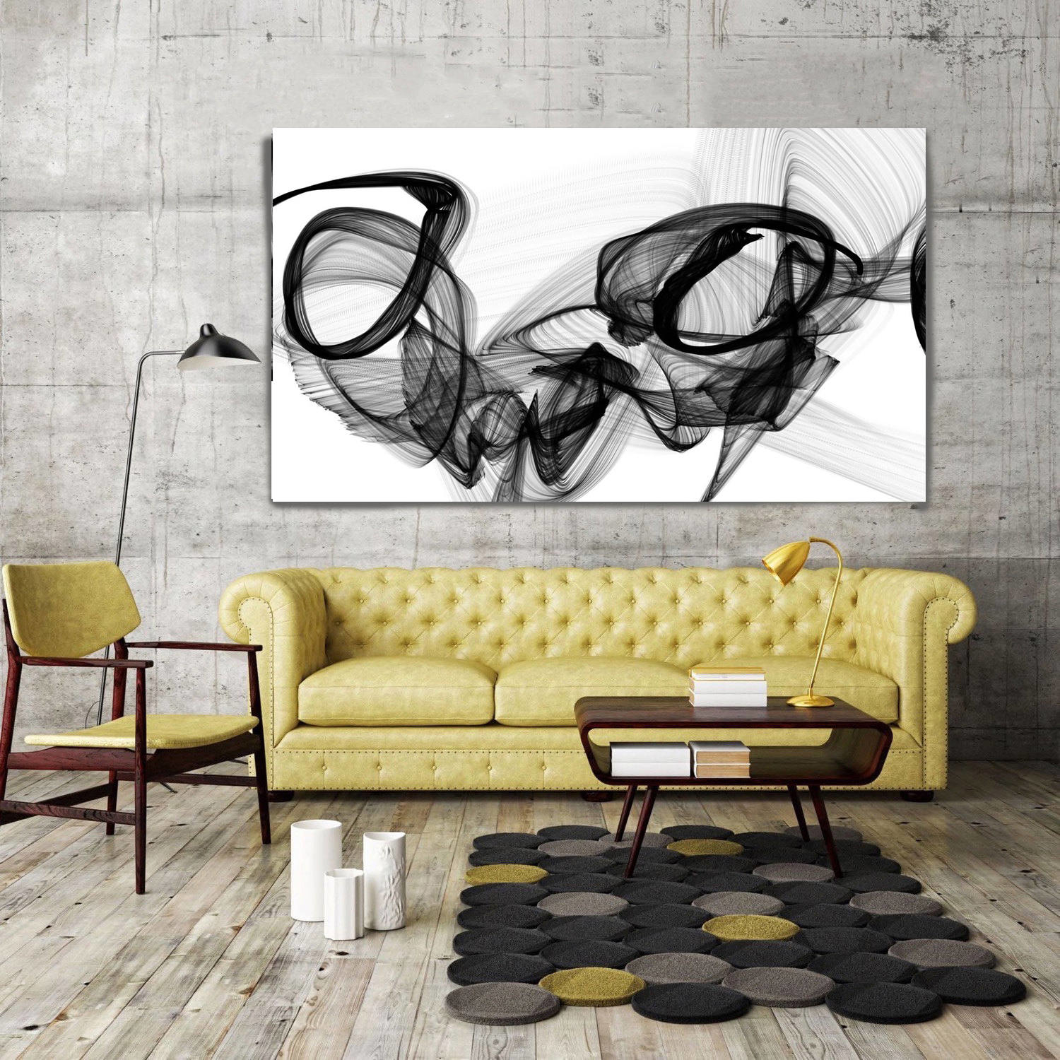 Marriage Abstract Painting Print Wrapped Canvas Irena Orlov The