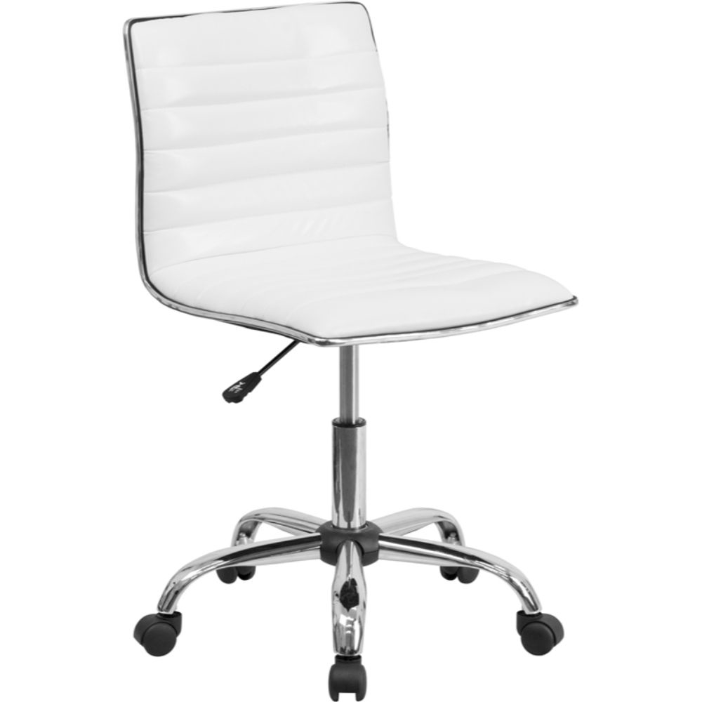 White Ribbed Task Chair White 5a17f42ae22461522d174ee4