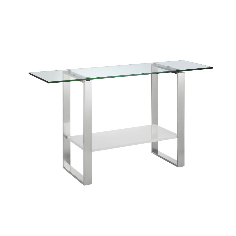 Clarity High Gloss White Lacquer Console Table