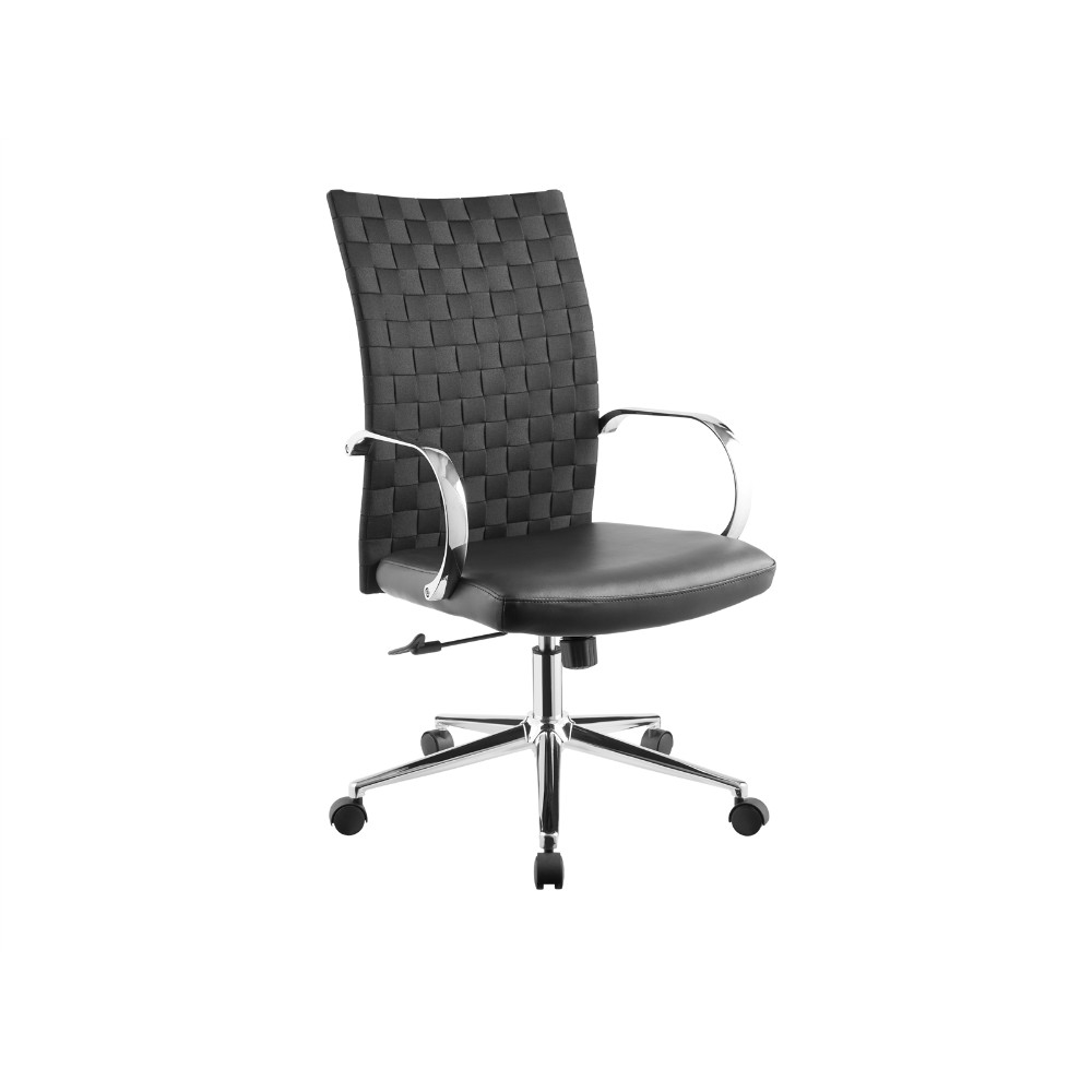 Cubes Black Arm Office Chair