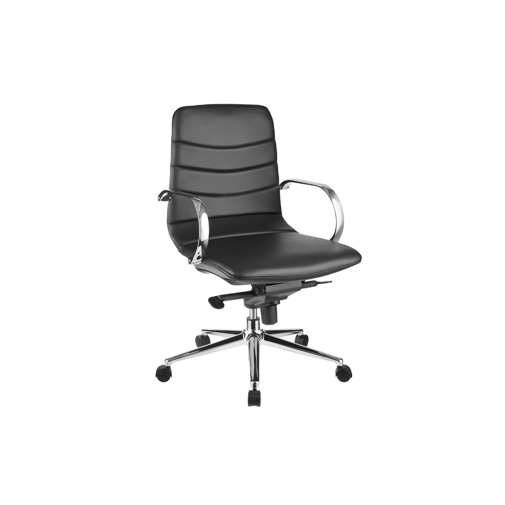 Horizon Black Eco-leather Arm Office Chair