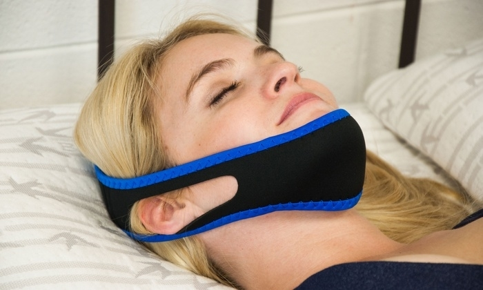 "! ! ! ! Cyber Week ! ! ! ! ! ! ! ! Bogo ! ! ! ! Say goodnight to snoring, with the adjustable anti-snoring jaw strap! Made with soft and breathable elastic neoprene, and with built in holes for your ears, you'll be resting quietly and comfortably in no time.Details: Adjustable strap wraps around in effort to keep the mouth closed and reduce snoring Comfortable ear holes May help prevent dry mouth and sore throat Works to increase REM sleep Can also aid those who suffer from obstructive sleep apnea, jaw dislocation, or tremors Made of elasticized neoprene Dimensions 6"""" x 3"""" x 1"""" Care Instructions: Wipe clean with a damp cloth"