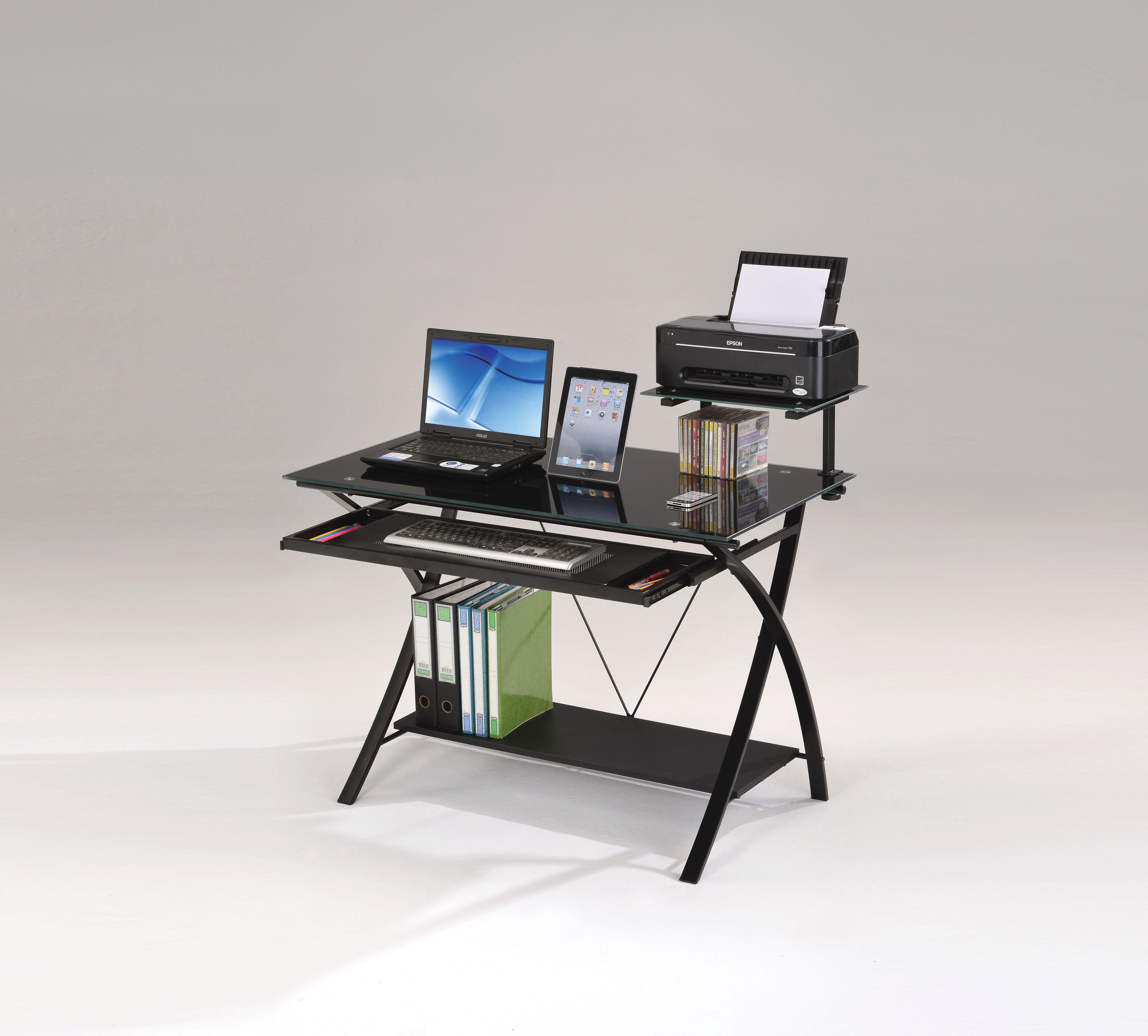 Modern Day Computer Desk, Black