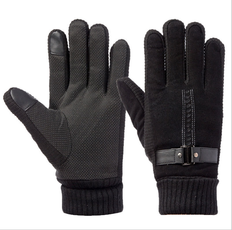 Waterproof Unisex Winter Ski Warm Gloves For Motorcycle, Driving - Black 5a2835b278280031703ba57b