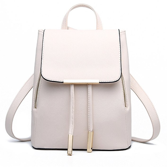 Casual Purse Fashion School Leather Backpack Shoulder Bag Mini Backpack photo