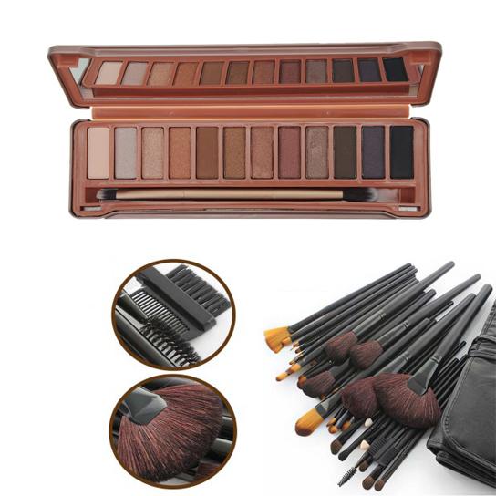 Unnique 32pcs Brushes Set Comes with12 Colors Eyeshadow Palette 5a2a8dd41a2f726bac0953cc