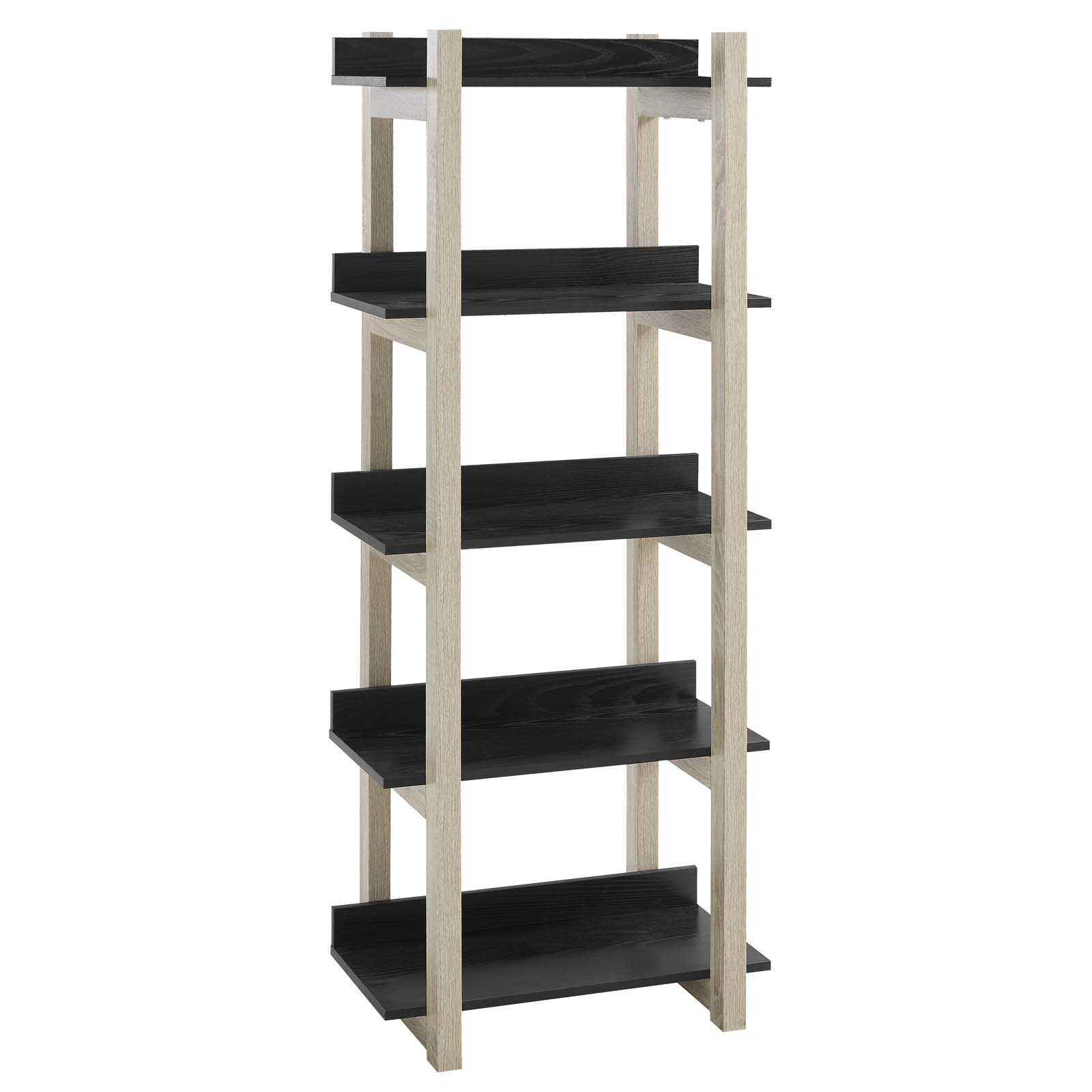 Reprieve Bookcase With 5-Shelf In Natural Black