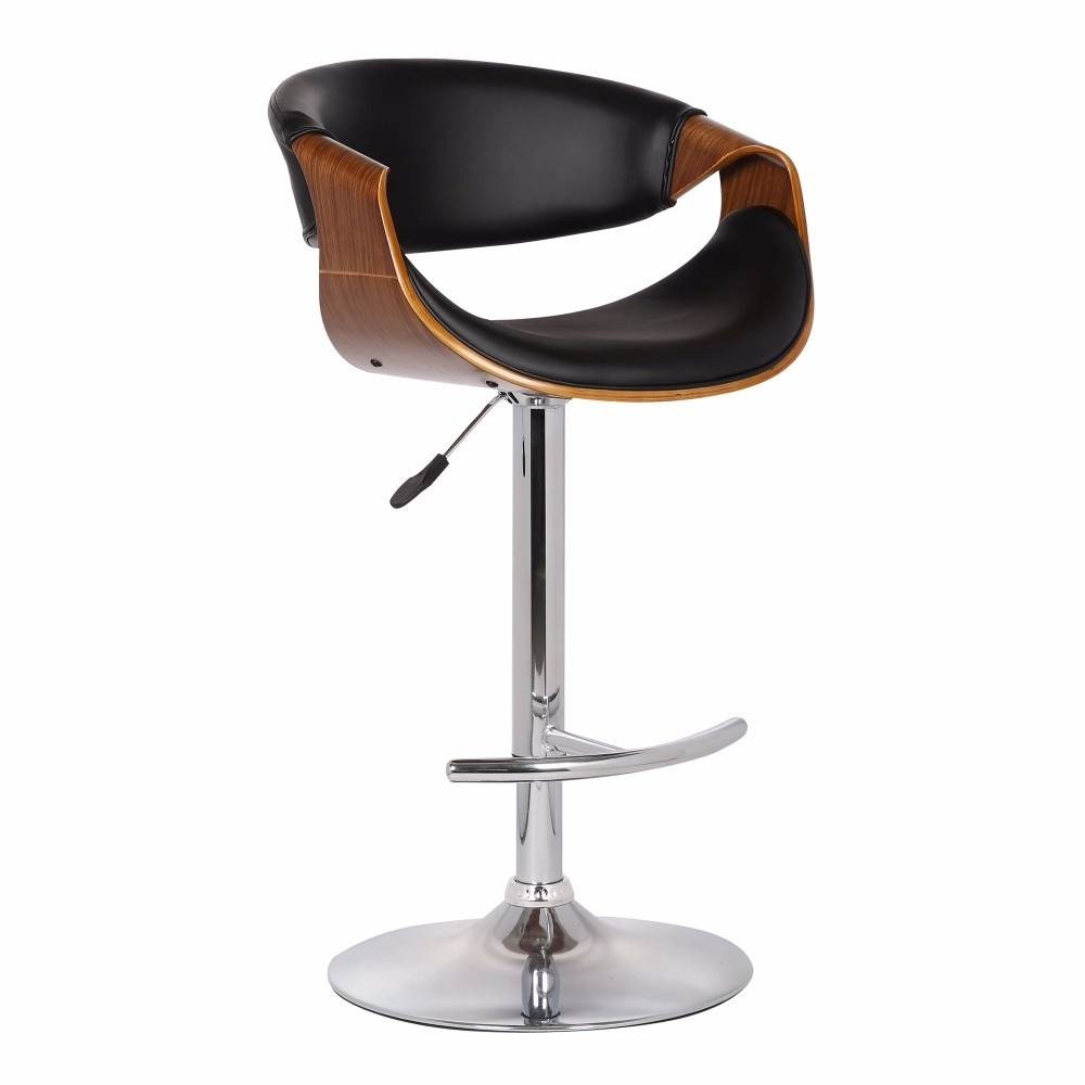 Armen Living Butterfly Adjustable Swivel Barstool in Chrome Finish 5a38ef4b2a00e47a1d4c8d7d