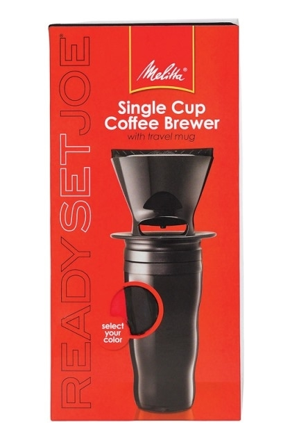 Melitta 64013 Ready Set Joe Travel Mug Coffee Maker Single Cup Black 5a399fb7e224616c581550ad