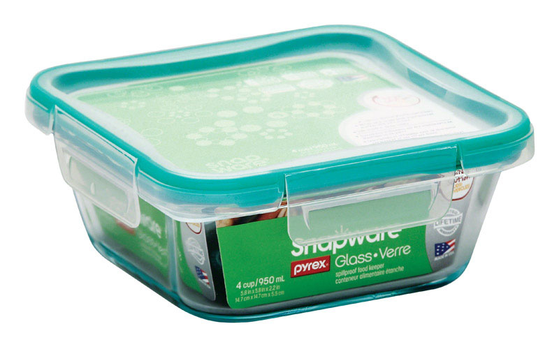 World Kitchen Rning Revere 1109304 Snapware Square with Lid Clear-4 Cup- pack of 4 5a39a8482a00e43d25063764