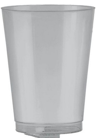 Amscan 350363.18 Tumbler Plastic 10 oz. Big Party Packs - Silver - Pack of 432 5a39e90be2246111aa36549f