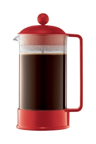 Bodum 1548-294Us 8 Cup Red Brazil French Press Coffee Maker 5a3a8f212a00e41c307a78d1